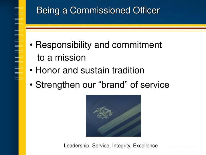 Being a Commissioned Officer