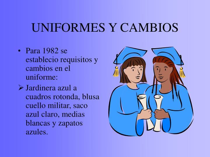 UNIFORMES Y CAMBIOS