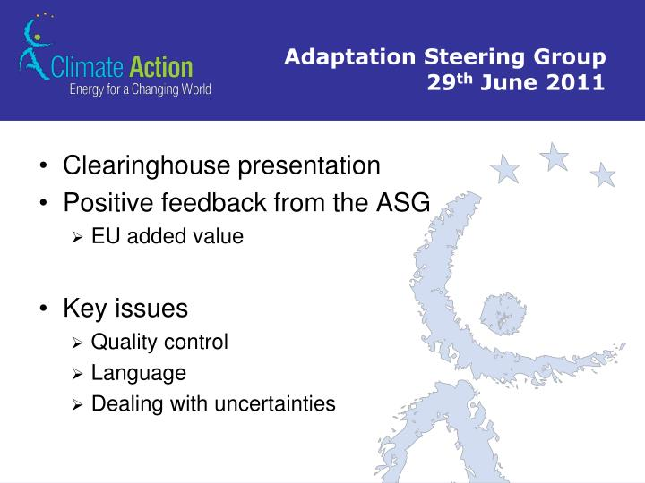 Adaptation Steering Group