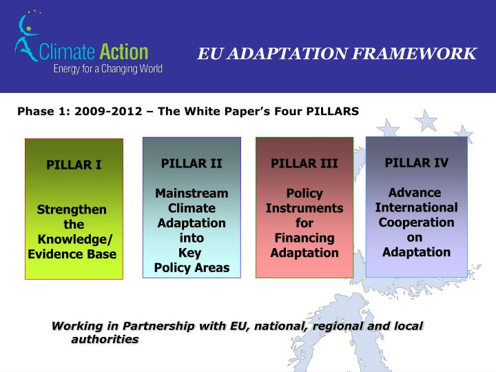 Phase 1: 2009-2012 – The White Paper's Four PILLARS