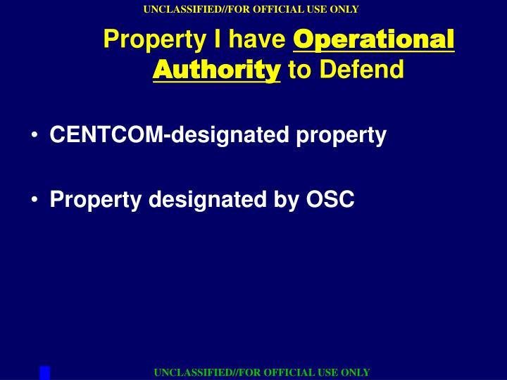 CENTCOM-designated property