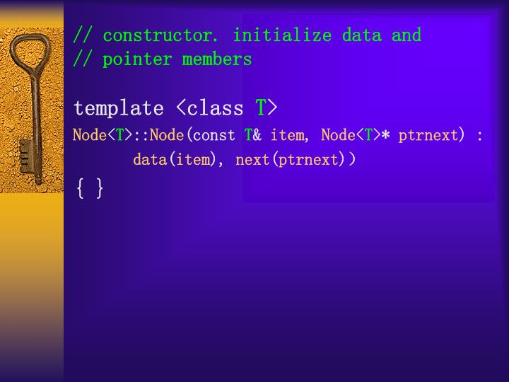 // constructor. initialize data and