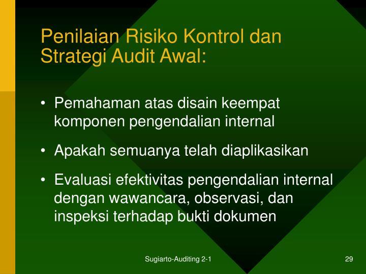 Penilaian Risiko Kontrol dan Strategi Audit Awal: