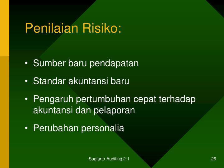 Penilaian Risiko: