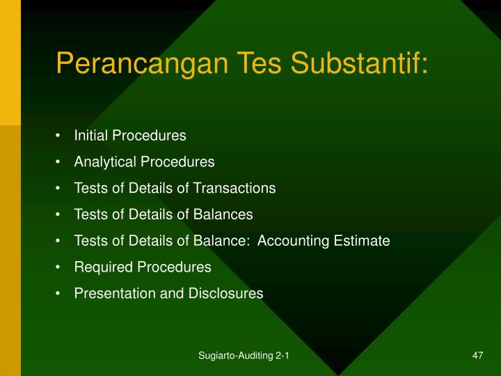 Perancangan Tes Substantif: