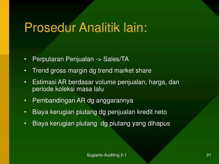 Prosedur Analitik lain: