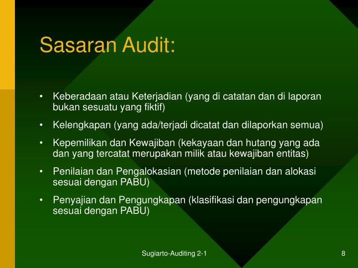 Sasaran Audit: