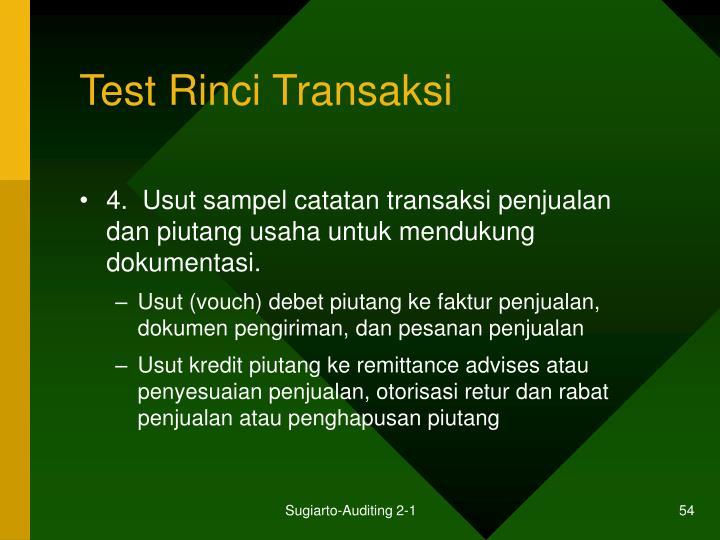 Test Rinci Transaksi