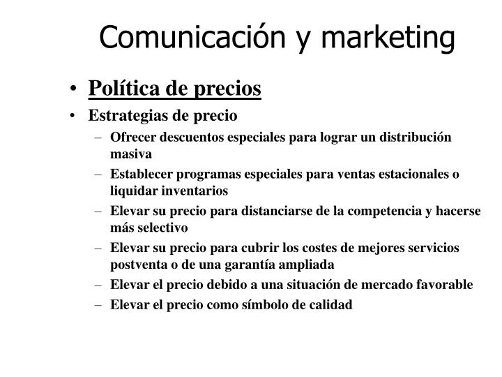 Comunicación y marketing