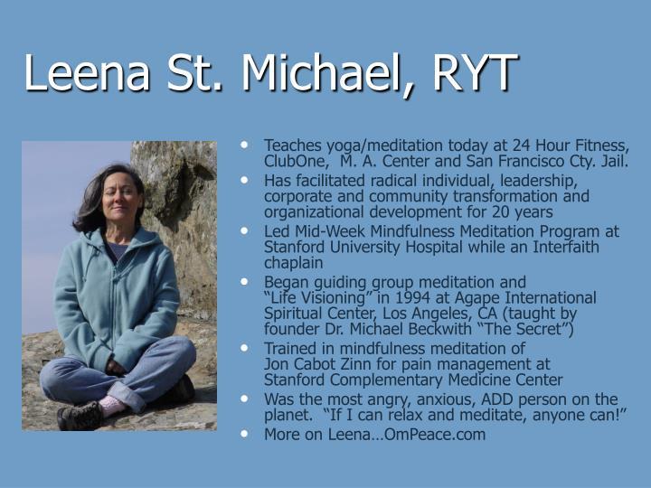Leena St. Michael, RYT