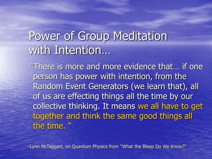 Power of Group Meditation