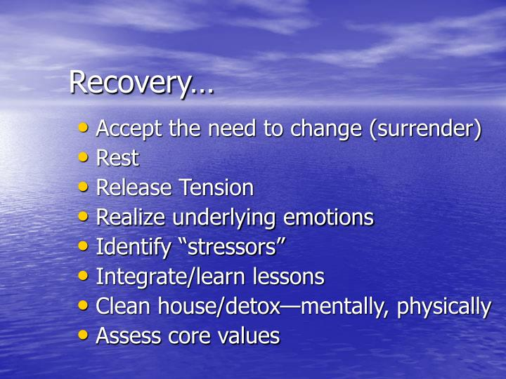 Recovery…