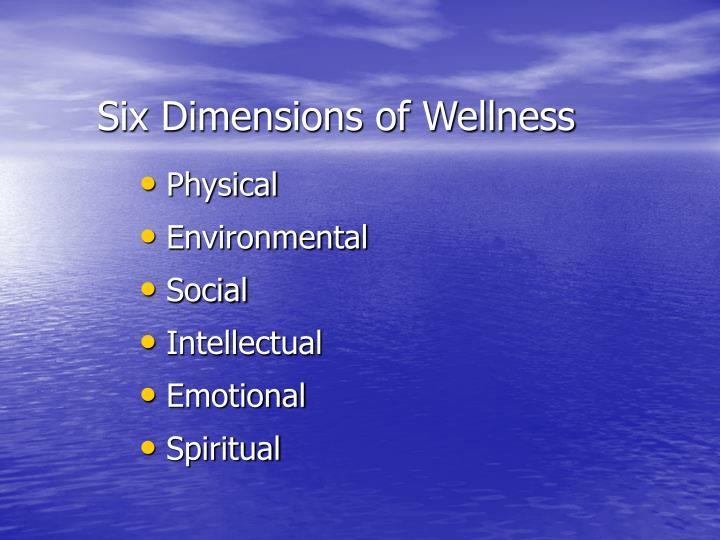 Six Dimensions of Wellness