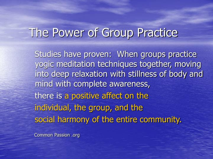 The Power of Group Practice