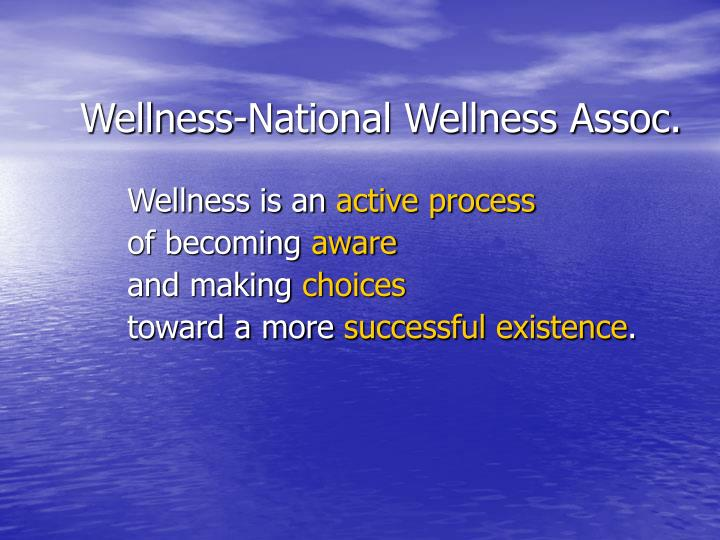 Wellness-National Wellness Assoc.