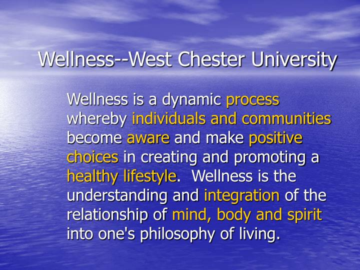 Wellness--West Chester University