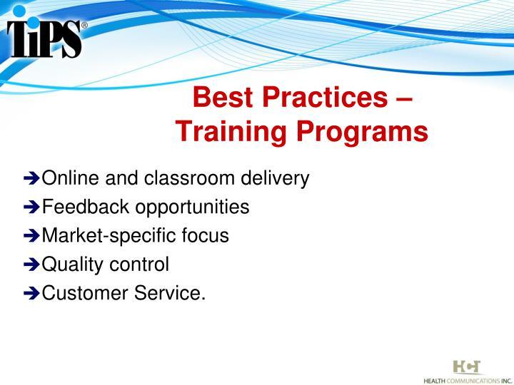 Best Practices –