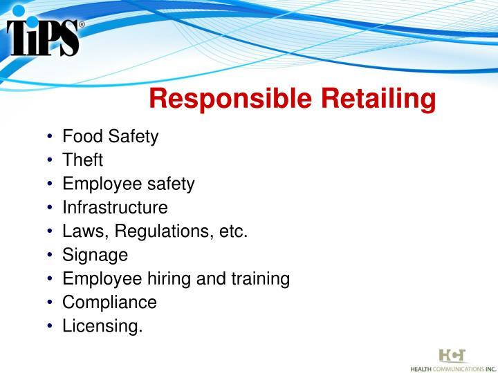 Responsible Retailing