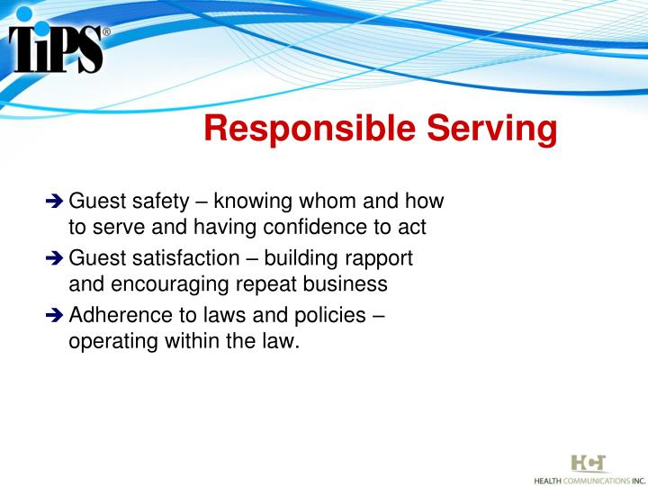 Responsible Serving