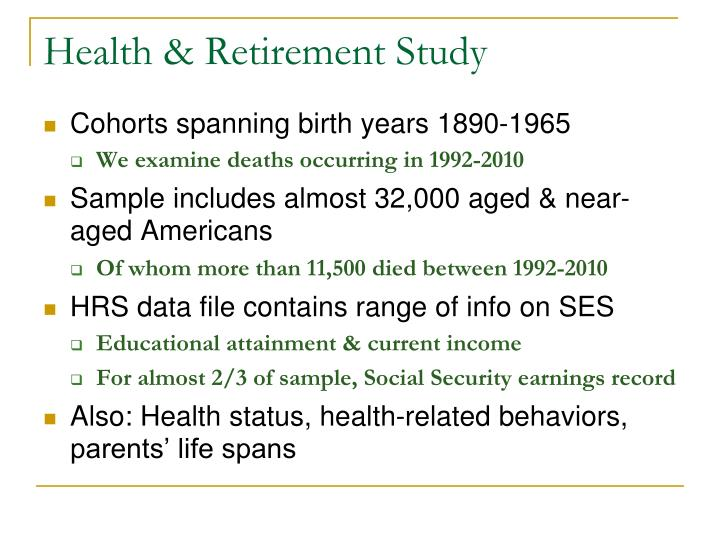 Health & Retirement Study