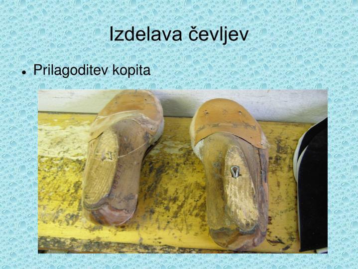 Izdelava čevljev