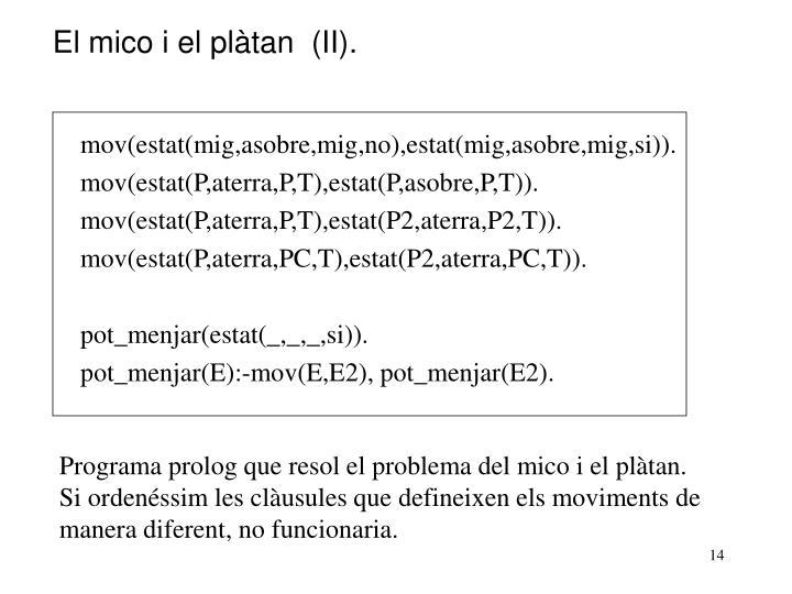 El mico i el plàtan  (II).