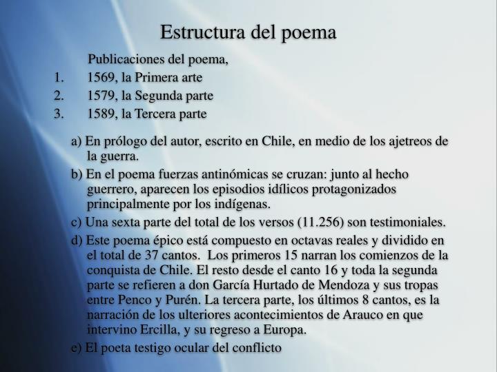 Estructura del poema