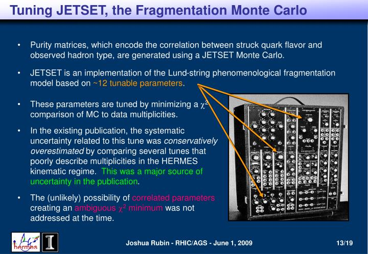 Tuning JETSET, the Fragmentation Monte Carlo