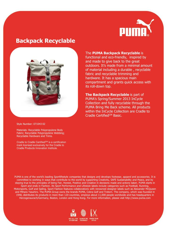 Backpack Recyclable