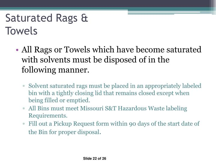 Saturated Rags &
