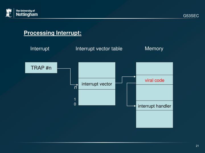 interrupt vector