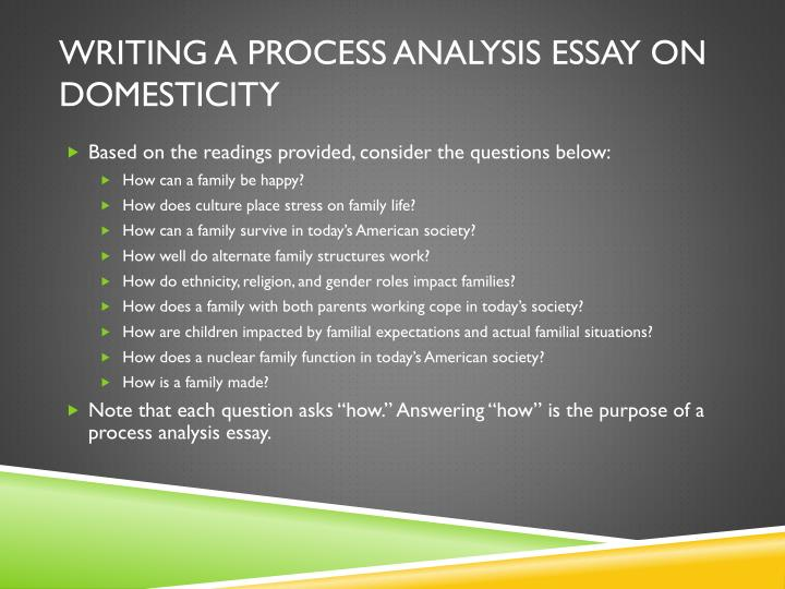 process analysis essay about Guide for writing influential process analysis essays with 6 easy to understand steps and 8 compelling tips a process analysis essay goes into the steps required to complete an event this article.