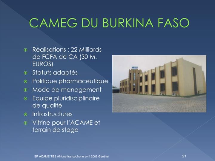 CAMEG DU BURKINA FASO