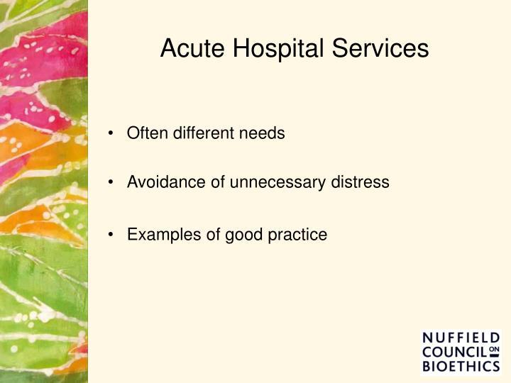 Acute Hospital Services