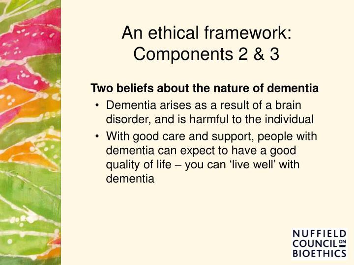 An ethical framework: