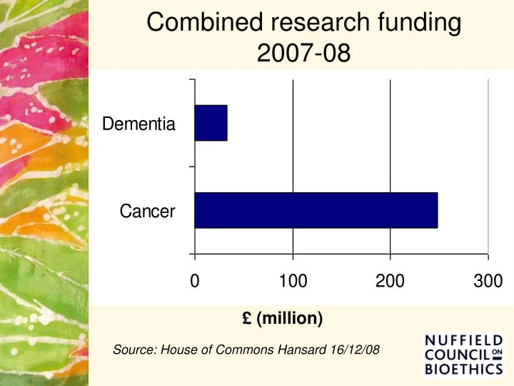 Combined research funding