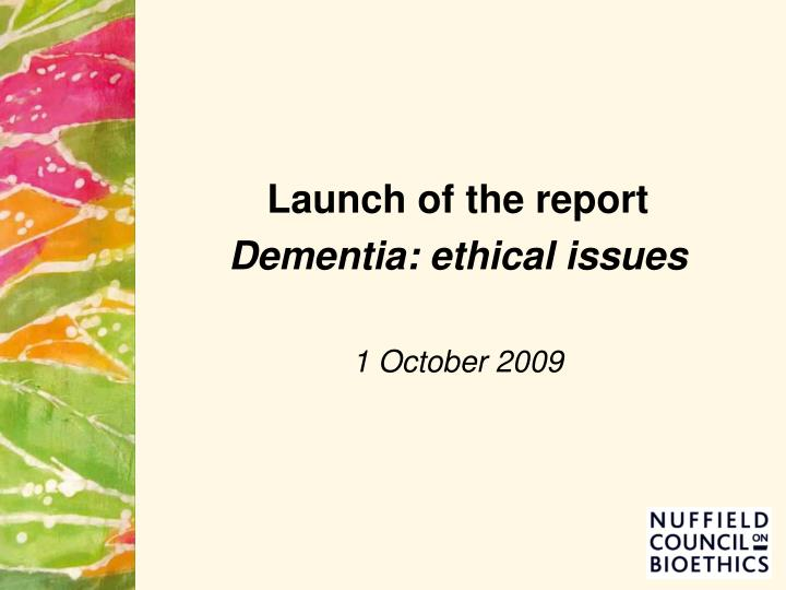 Launch of the report
