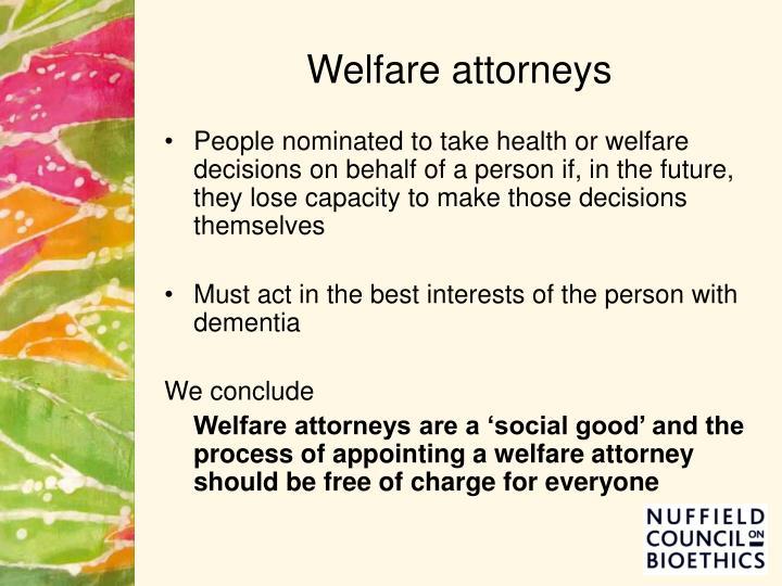 Welfare attorneys