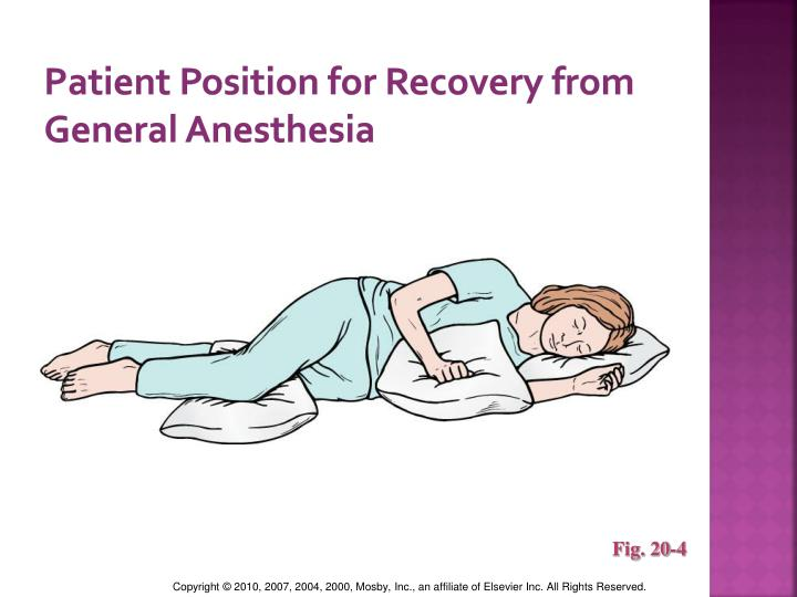 Patient Position for Recovery from General Anesthesia