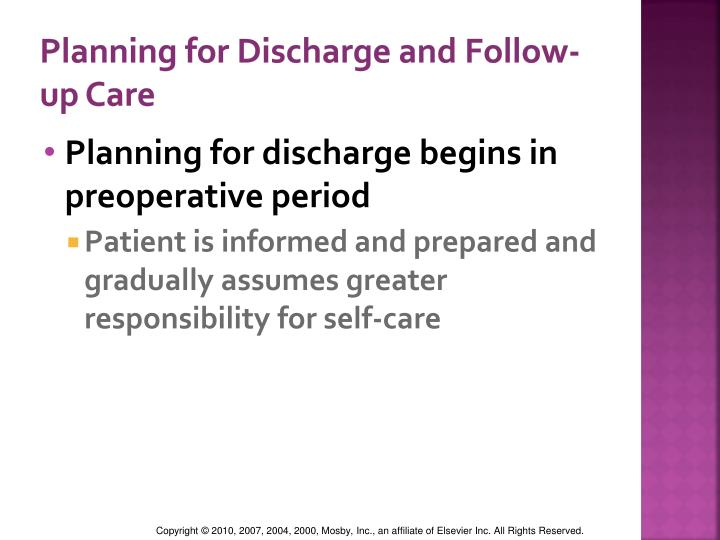 Planning for Discharge and Follow-up Care