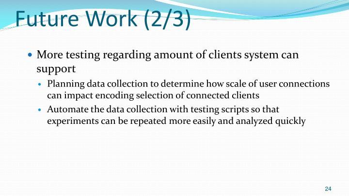 Future Work (