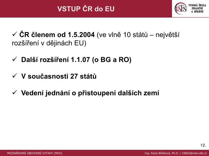 VSTUP ČR do EU