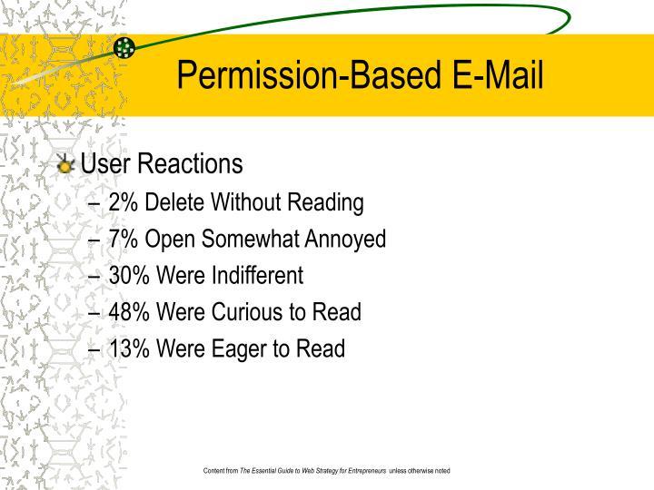 Permission-Based E-Mail