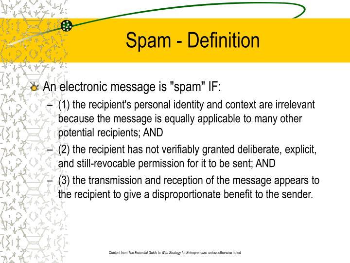 Spam - Definition
