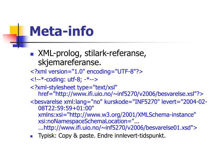 Meta-info