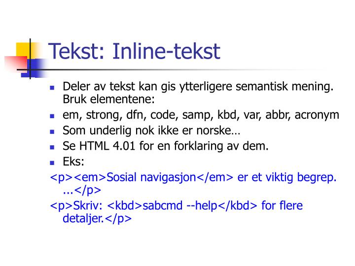 Tekst: Inline-tekst