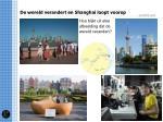 de wereld verandert en shanghai loopt voorop