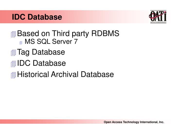 IDC Database