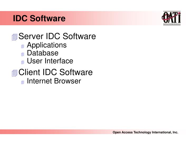 IDC Software