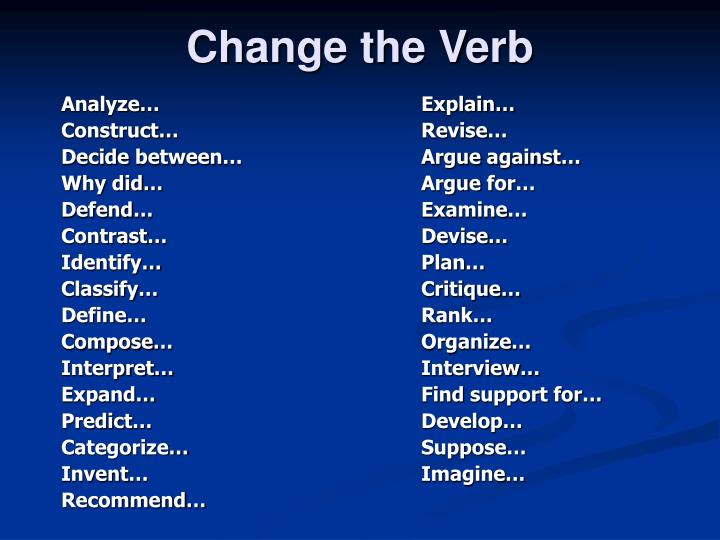 Change the Verb